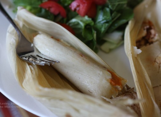 Pumpkin and chorizo tamales