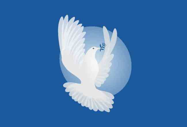 A dove - Kahlil Gibran's parables of peace