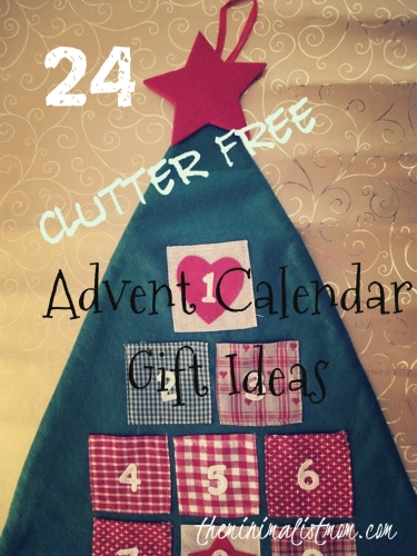 Minimalist Advent Calendar : Clutter free advent calendar gift ideas the