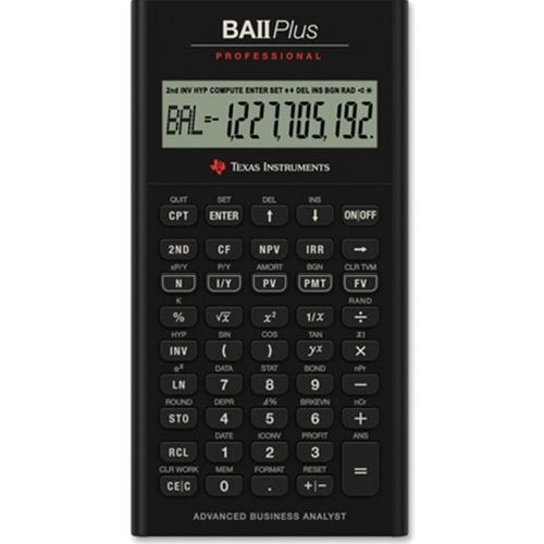 The Mizzou Store - Texas Instruments BA II Plus Pro Financial Calculator