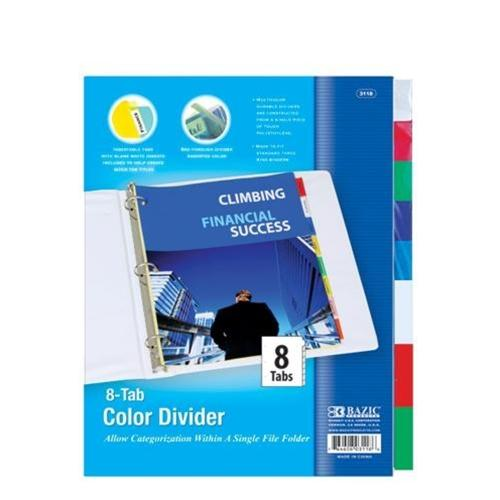 The Mizzou Store - 3-Ring Binder Dividers with 8 Insertable Color Tabs