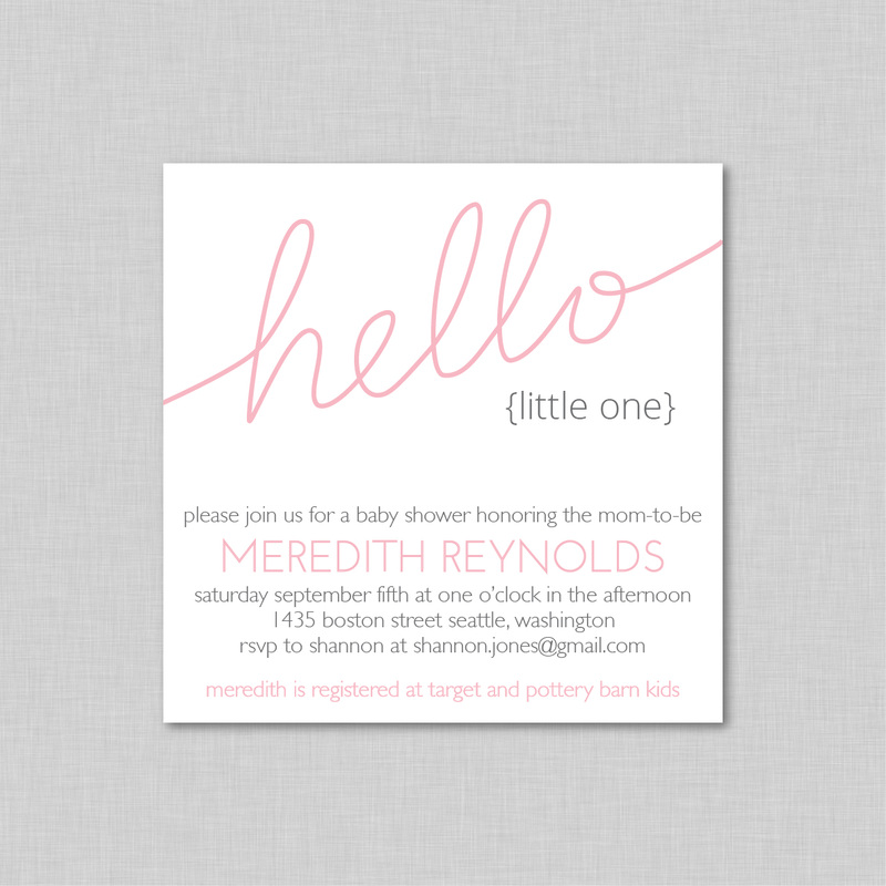 Invitation Designs - The modern baby Shop