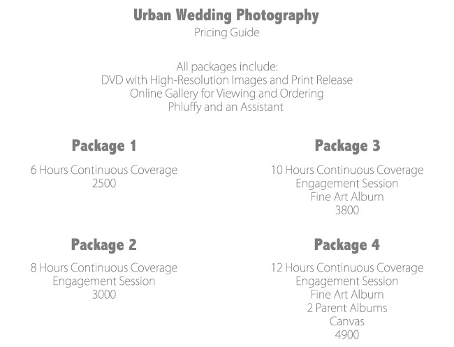 How To Create Photography Packages That Sell - The Modern Tog - wedding price list