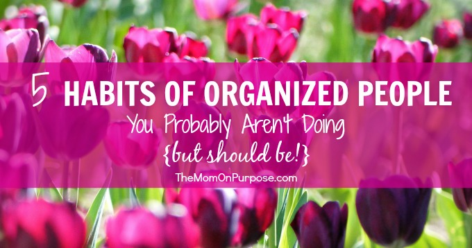5 Habits of Organized People You Probably Aren't Doing {but should be!}