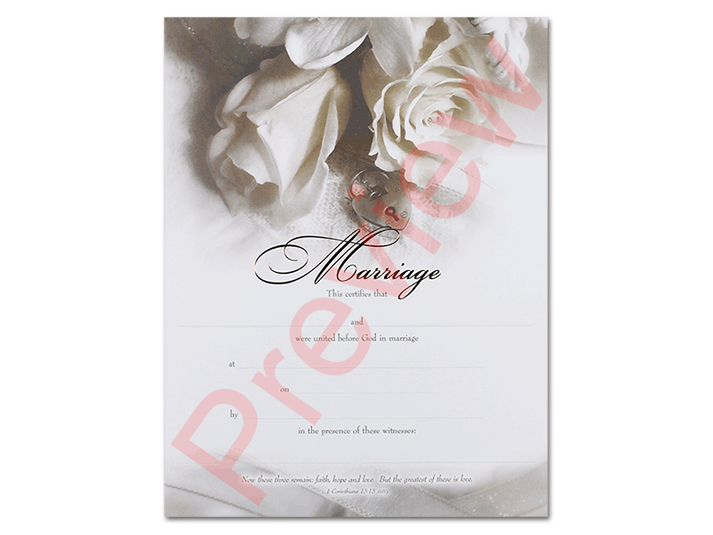 Marriage Certificate from the Universal Life Church - marriage certificate