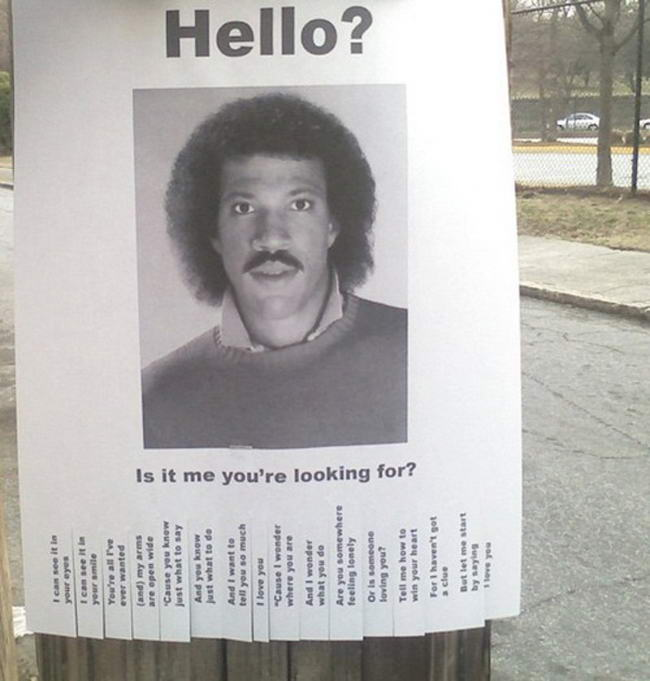 10 Most Humorous and Creative Street Posters - lost person poster