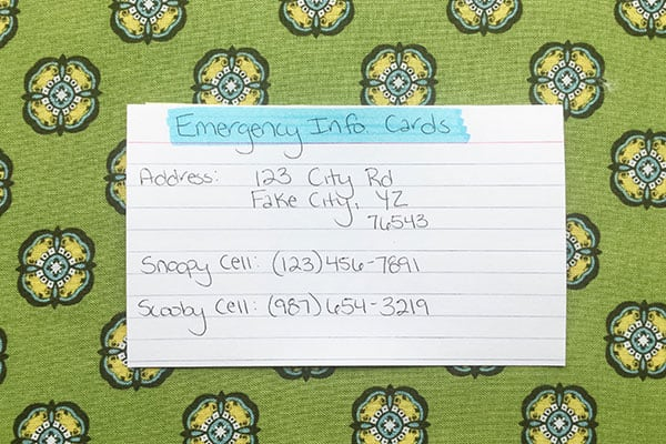 How to Create Emergency Info Cards - The (mostly) Simple Life