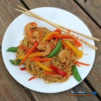 Shrimp Lo Mein   This quick and easy lo mein is guaranteed to satisfy your take-out craving in less than 30 minutes in your very own kitchen. The best part is it is healthy without sacrificing flavor.   TheMountainKitchen.com