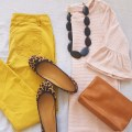 pink and yellow flatlay 1