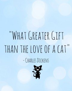 Cats VS Toddlers - Love of the cat - Charles Dickens Quote