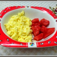 Cheesy scrambled egg| Baby recipe