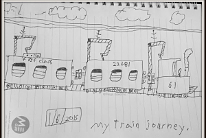 Kids artwork- A depiction of my train journey