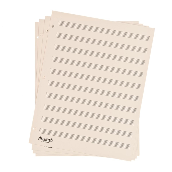 LL10S Archives Looseleaf Manuscript Paper , 10 Stave, 50 Pages