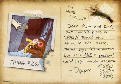 Gravity Falls Postcard