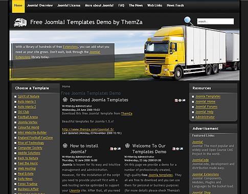 Global Logistics\u0027 - Free Joomla 15 Template by ThemZa