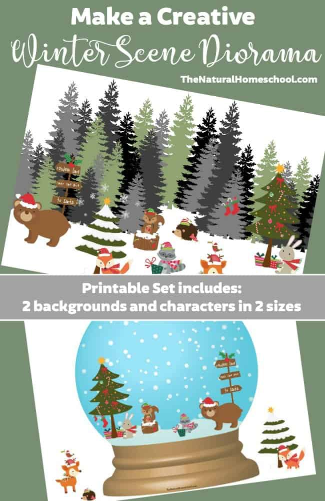 Make a Creative Winter Scene Diorama {Printable} - The Natural