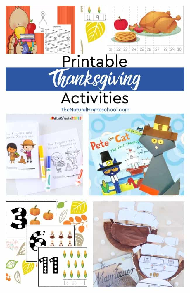 Printable Thanksgiving Activities - The Natural Homeschool