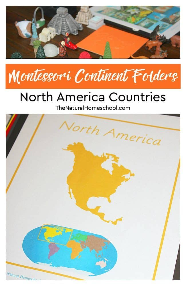 Facts on North America ~ Printable Montessori Continent Folder - The