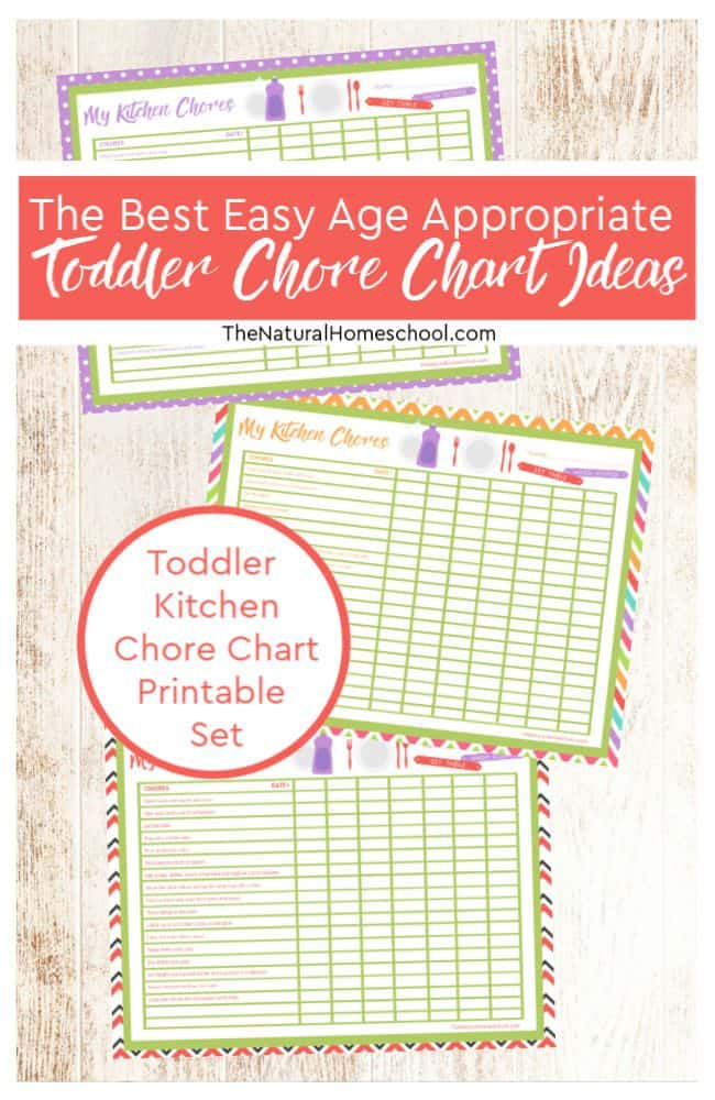 The Best Easy Age Appropriate Toddler Chore Chart Ideas - The