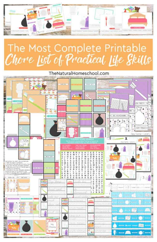 The Most Complete Printable Chore List of Practical Life Skills
