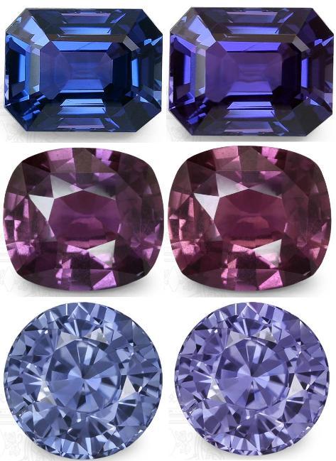 Color Change  Bi-Color Sapphires  The Chameleon Gems