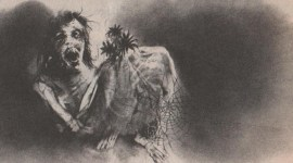 Stephen Gammel's artwork from Scary Stories to Tell in the Dark.