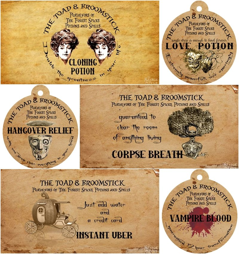Apothecary Jars and Free Printable Labels - The Navage Patch