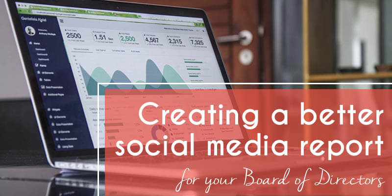 Creating a nonprofit social media report to show your Board