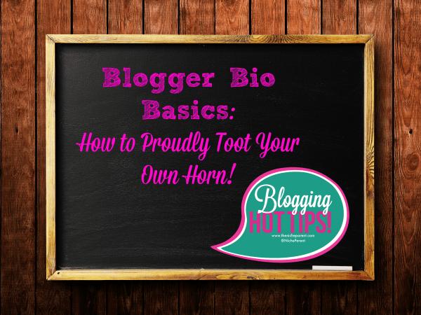Blogger Bio Basics