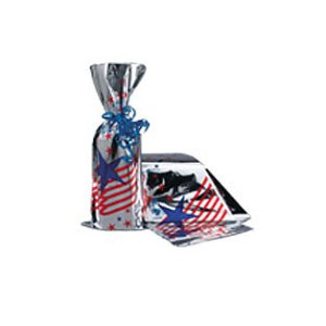 american flag pattern mylar bag