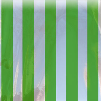 Green Stripe Mylar Bag - The Bag Lady