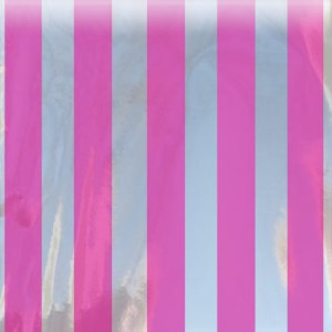 hot pink mylar striped bag small