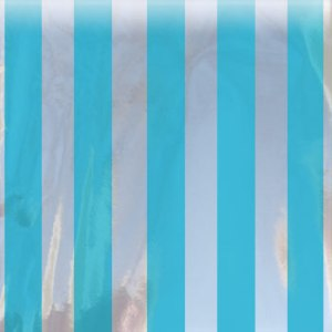 turquoise striped mylar bag small