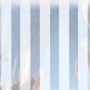 white striped mylar bag small