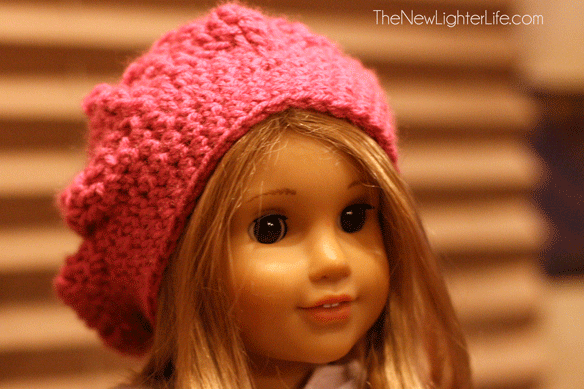 Slouchy American Girl Beret to Crochet - The New Lighter Life