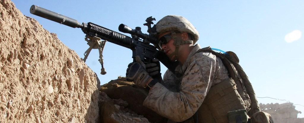Defense.gov_News_Photo_101101-M-6340O-058_-_U.S._Marine_Corps_Lance_Cpl._Steven_J._Zandstra_provides_security_at_a_checkpoint_in_Sangin_Helmand_province_Afghanistan_on_Nov._1_2010