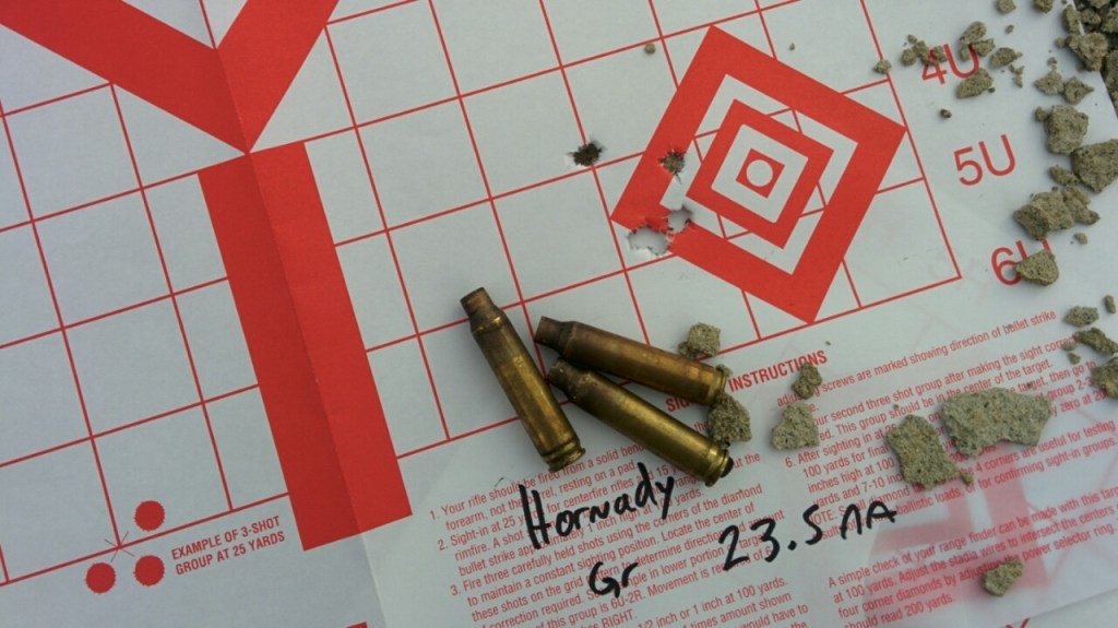 Criterion Barrel with Hornady 55FMJ reloads
