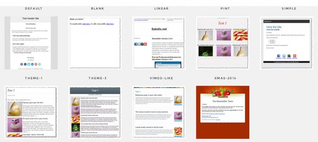 Newsletter Themes - The Newsletter Plugin