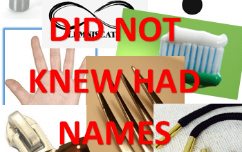THINGS YOU DID NOT KNEW HAD NAMES