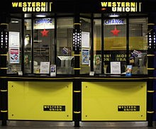 agents located every where for Western Union Money transfer service