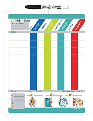 The Board Dudes Board Dudes Magnetic Dry Erase Rewards Chore Chart - chore chart online
