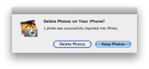 Delete photos from your iphone
