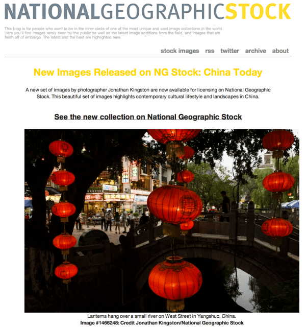 Jonathan Kingston Featured on National Geographic Stock Blog