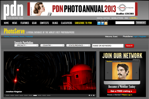 Jonathan Kingston featured on PDN Photoserve photographer of the month.