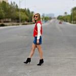 Varsity Jacket and Denim Mini