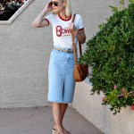 Bowie Tee and Denim Skirt