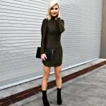 PARTY DRESS & CLEAR HEELED BOOTIES | A'GACI