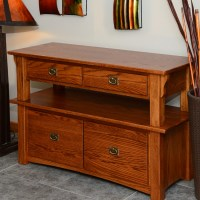 Mission Style Solid Oak Double Tier Lateral Filing Cabinet ...