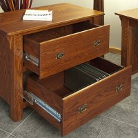 Mission Style Solid Oak Office Lateral Filing Cabinet - 36 ...