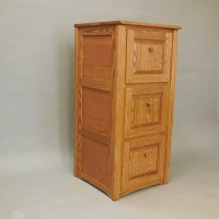 Country Classic Style Solid Oak 3 Drawer Filing Cabinet
